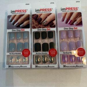 Impress Manicure Press-On Nails 3 New Boxes!
